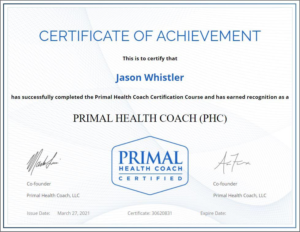 Primal Health Coach Certificate